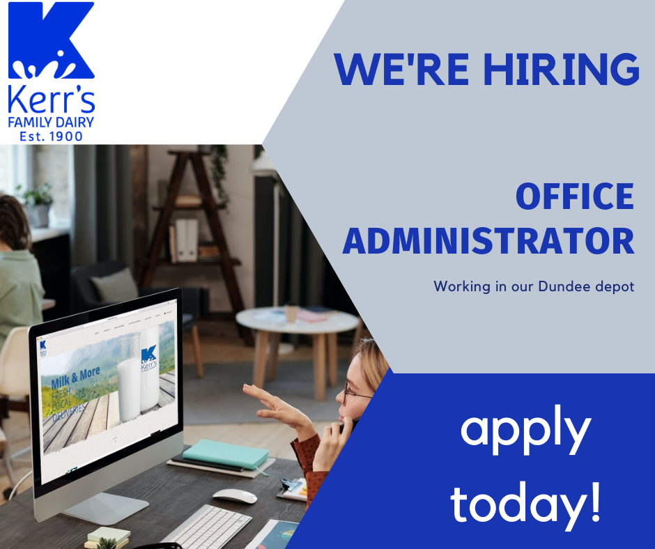 Office administrator required for our Dundee depot