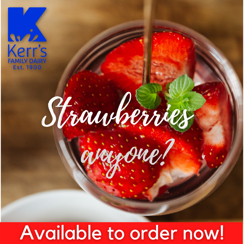 Fresh local strawberries delivered to your door